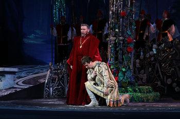 Король Рене - Богдан Тарас, Водемон - Сергій Пащук. Фото В. Давиденка.