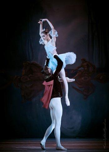 Принцеса Аврора - Юлія Москаленко, Принц Дезіре - Ян Ваня. Фото О. Орлової.